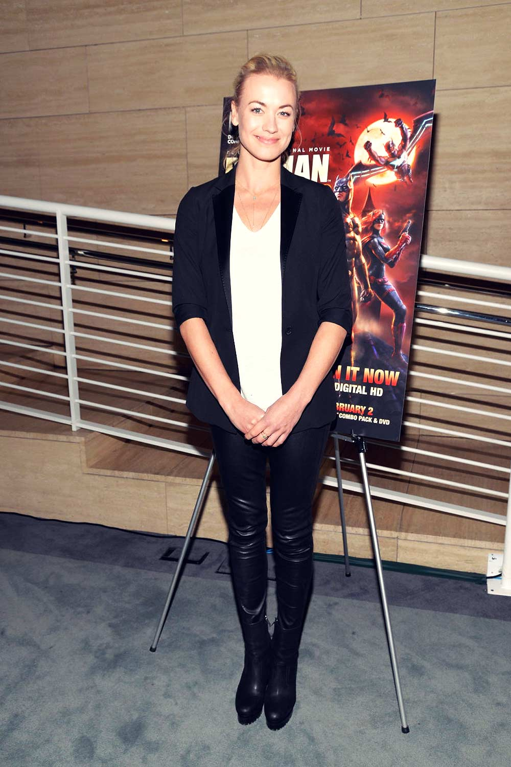 Yvonne Strahovski attends Batman Bad Blood premiere