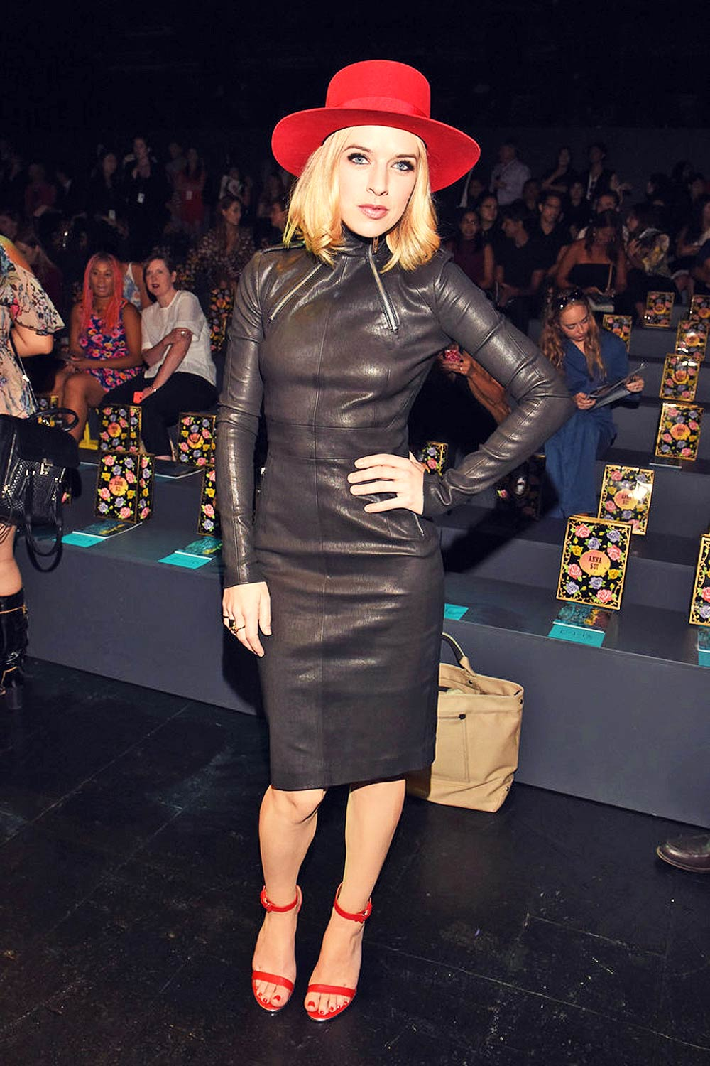 Zz Ward Attends Anna Sui Spring 2016 Leather Celebrities