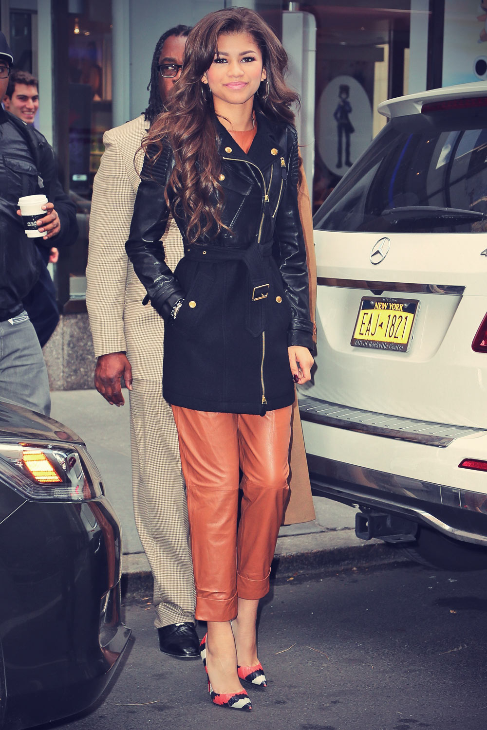 Zendaya Coleman out and about candids in NYC