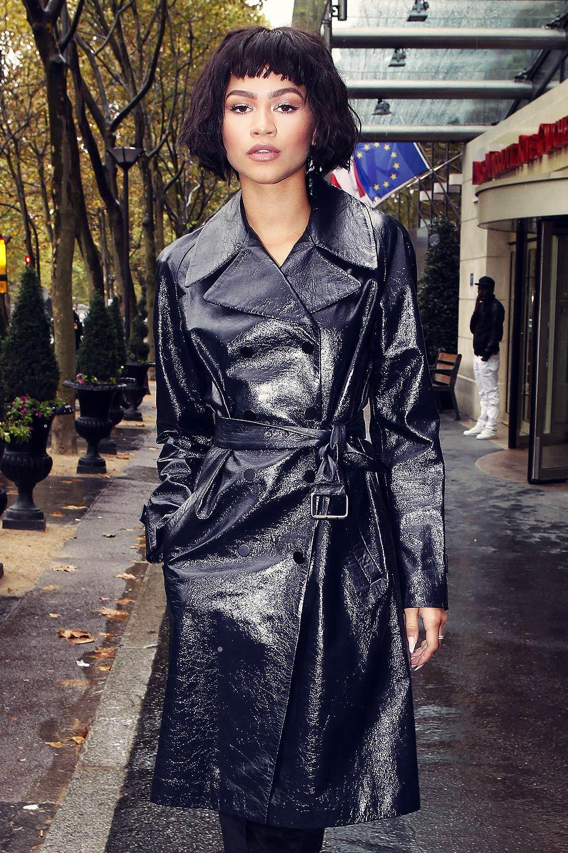 Zendaya out during Fashion Week in Paris