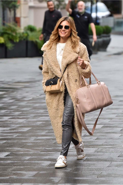 Zoe Hardman leaving the Global studios in London