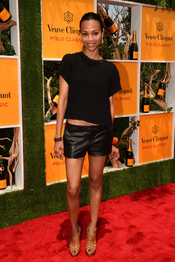 Zoe Saldana at 5th annual Veuve Clicquot Polo Classic in Jersey City June 2,2012