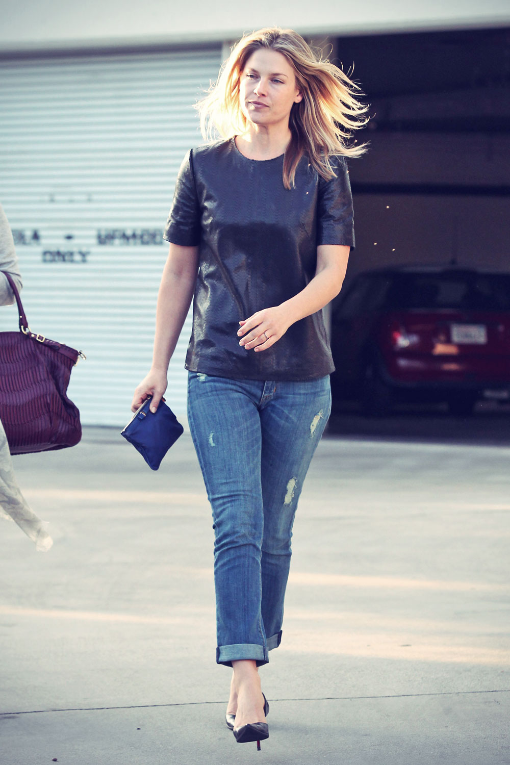 Ali Larter running some errands in Los Angeles