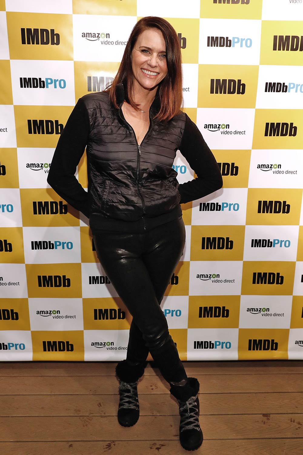 Amy Landecker of 'Cast Change' attends The IMDb Studio