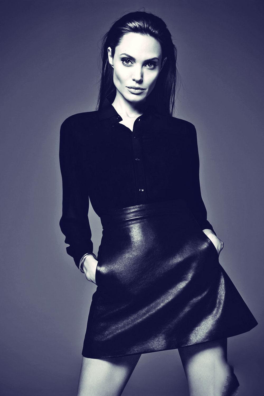 Angelina Jolie for Elle magazine