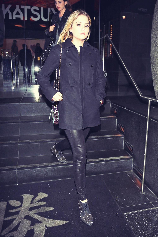Ashley Benson leaving Katsuya restaurant