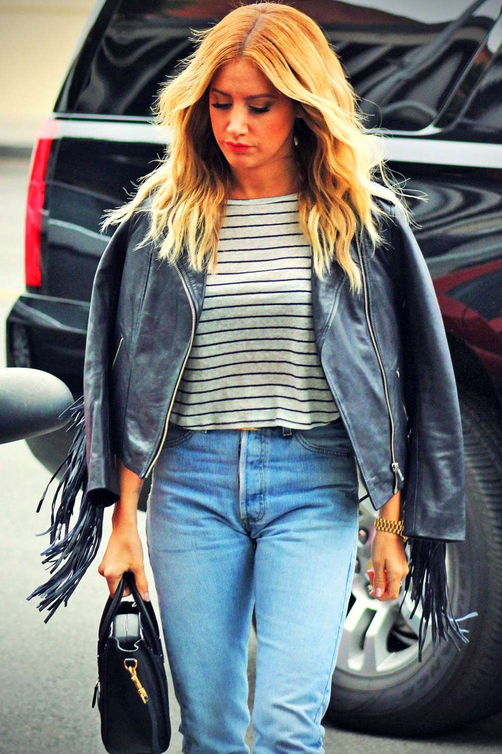 Ashley Tisdale in Jeans at Clipped Event