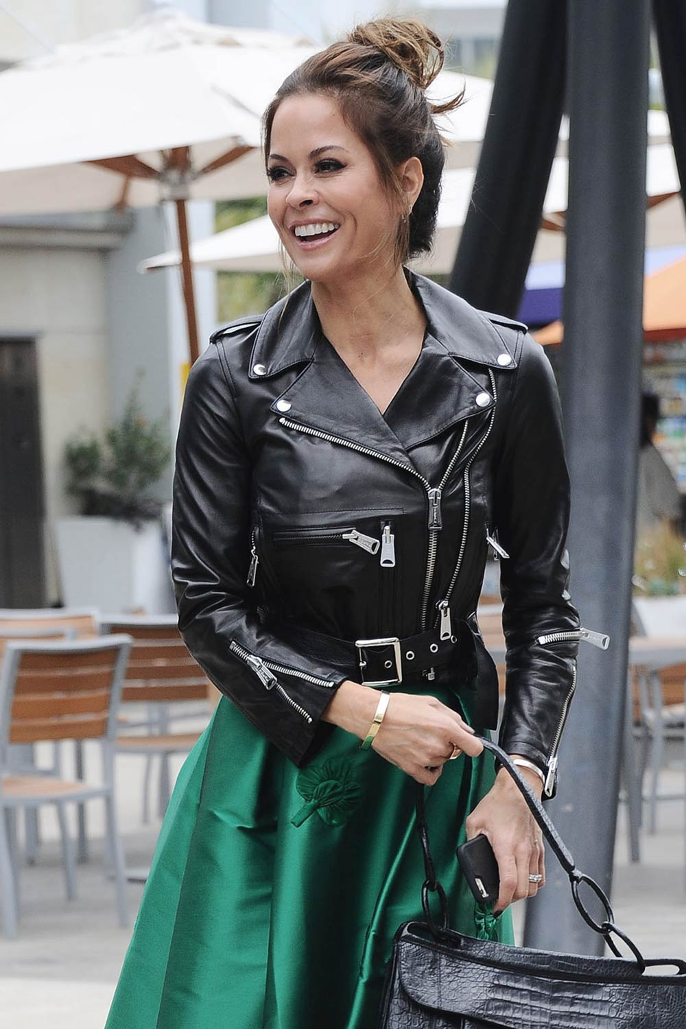 Brooke Burke seen after Taping Hollywood Live