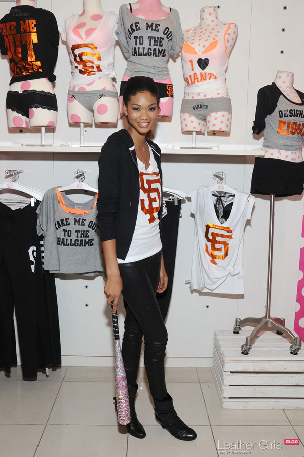 Chanel Iman attends the Victoria's Secret PINK MLB San Francisco Giants event in San Francisco