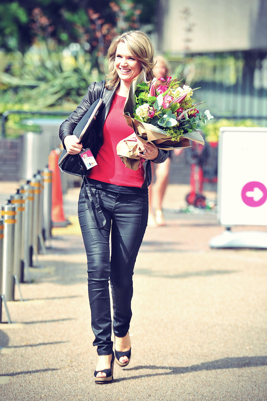 Charlotte Hawkins seen leaving the London studios