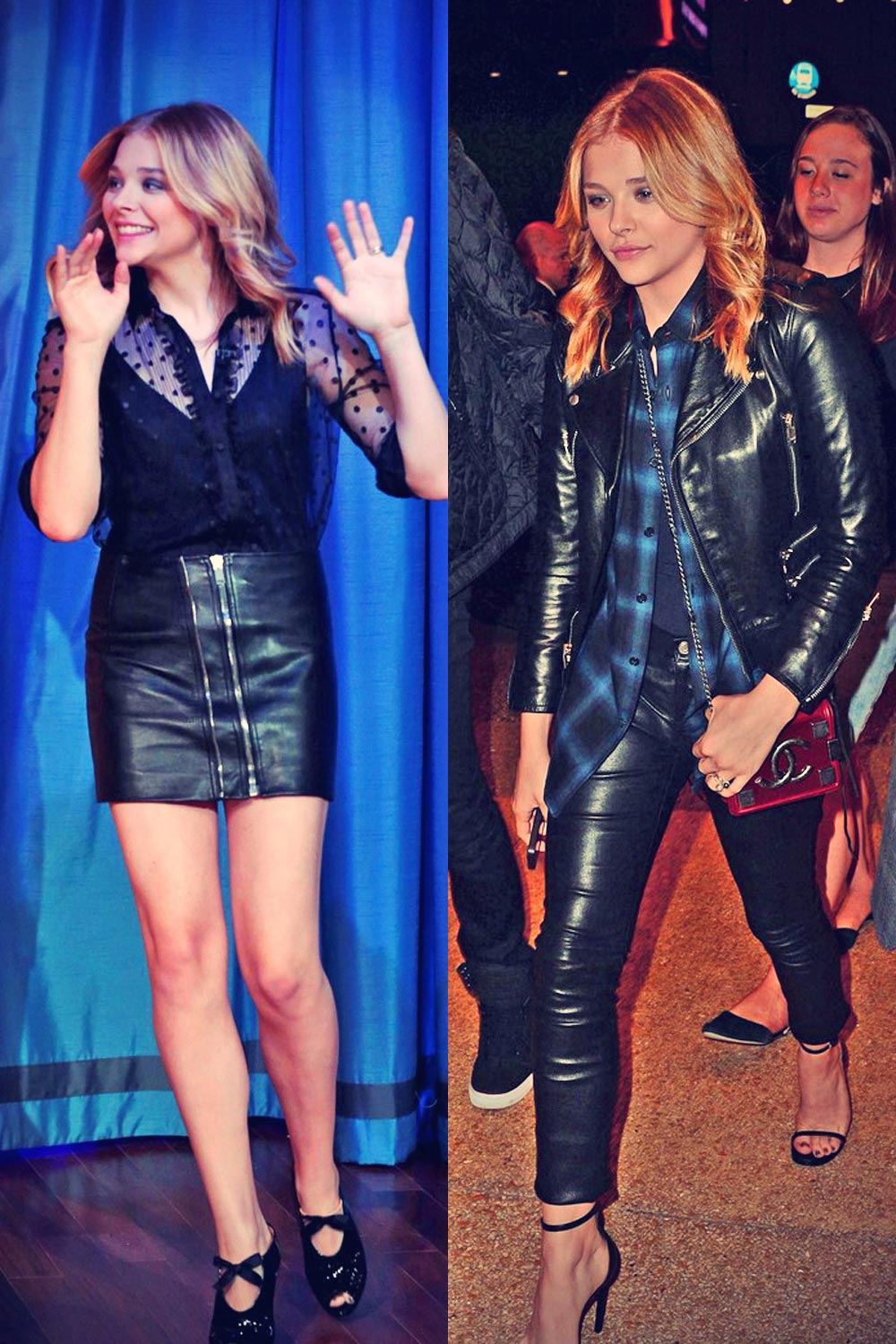 Chloe Moretz at Late Night with Jimmy Fallon