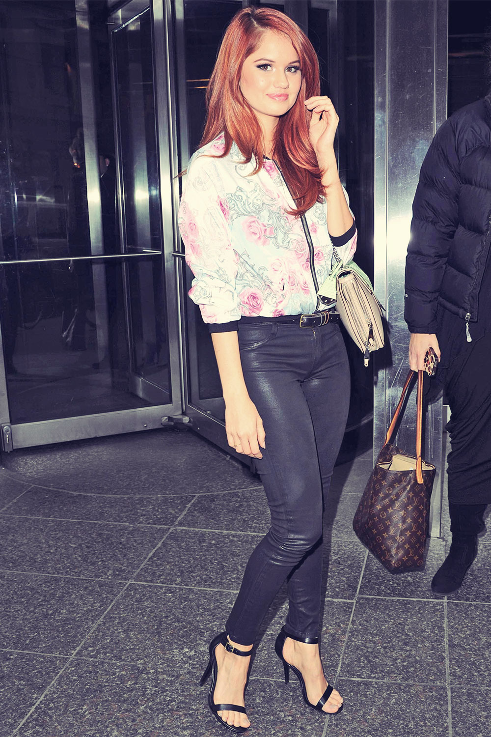 Debby Ryan out and about candids in NYC