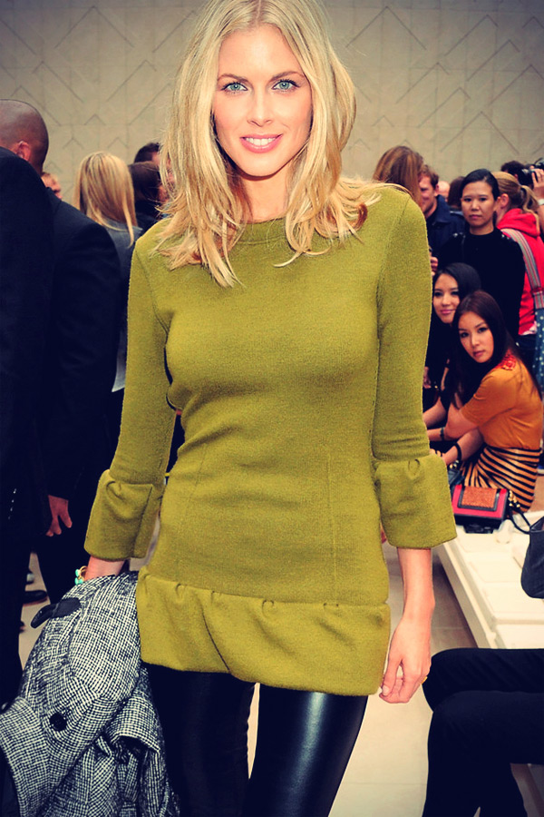 Donna Air attends the Burberry Spring Summer 2012
