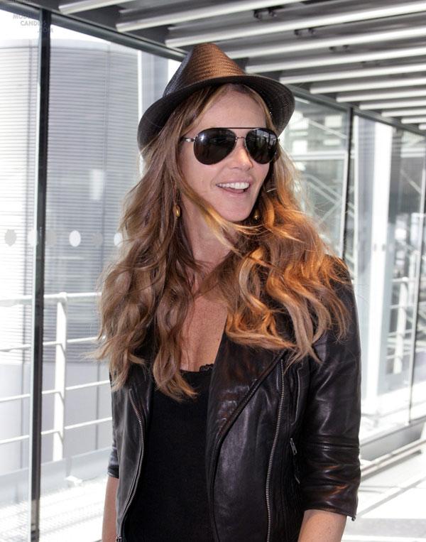 Elle MacPherson at Miami Airport