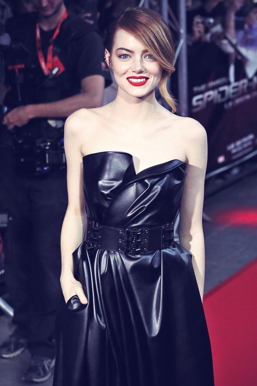 Emma Stone attends The Amazing Spider-Man 2 premiere