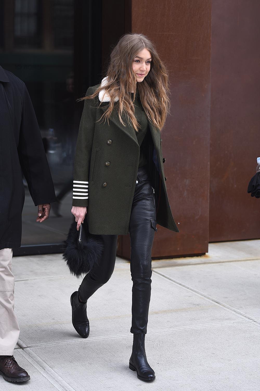 Gigi Hadid is seen in NYC