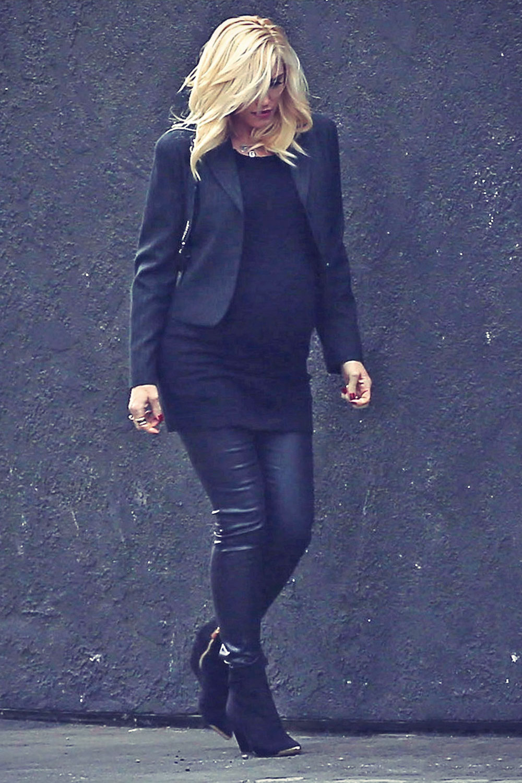 Gwen Stefani attends a Super Bowl party