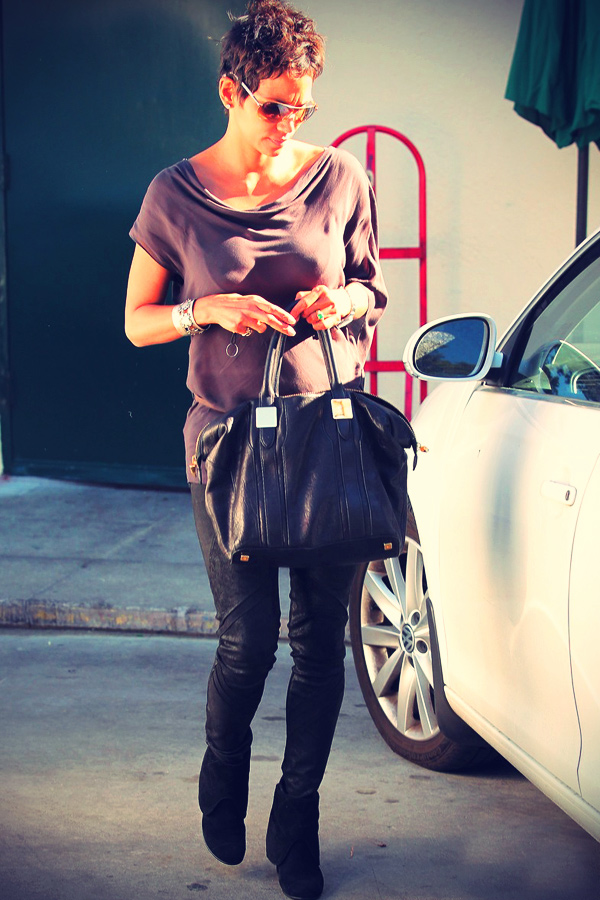 Halle Berry leave Cafe Med after having lunch