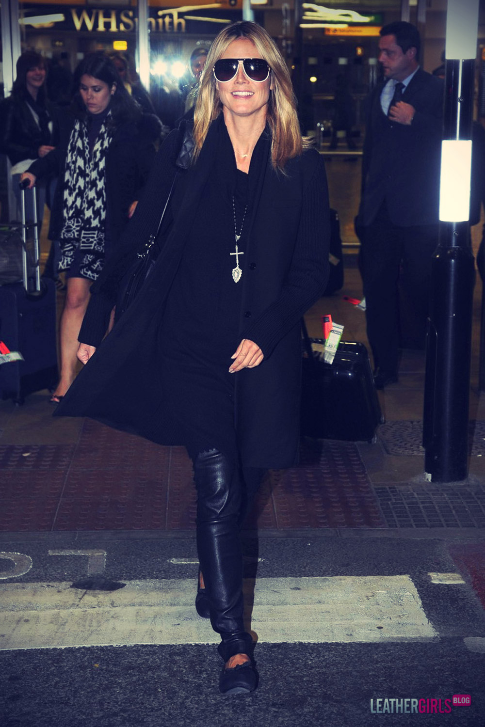 Heidi Klum arrives back at her hotel after a busy day out