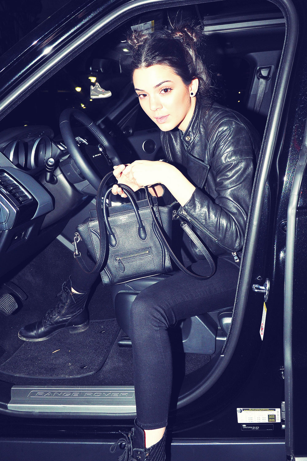 Kendall Jenner at Staples Center to watch Miley Cyrus perform