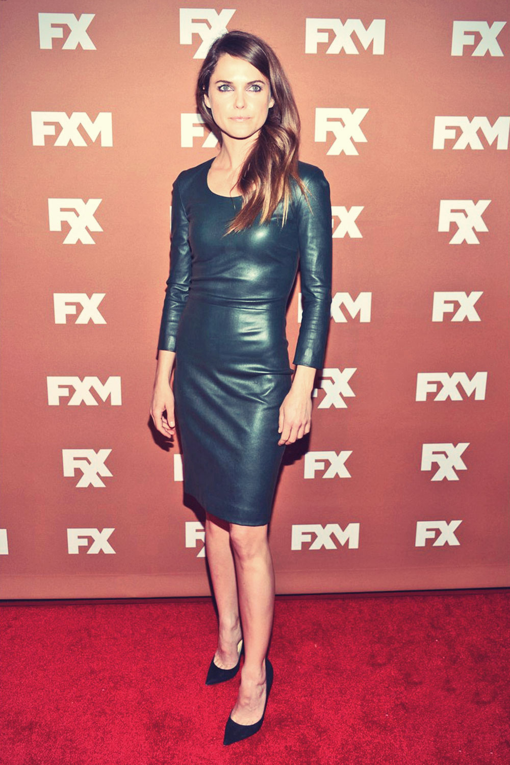 Keri Russell hits the red carpet at the 2013 FX Upfront Bowling Event