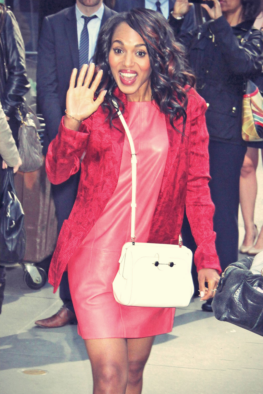 Kerry Washington heads inside a taping of Good Morning America