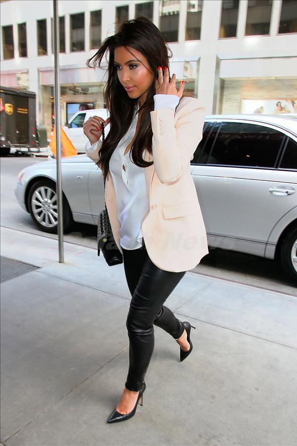 Kim Kardashian and Kanye West lunch at Serafina restaurant in NYC