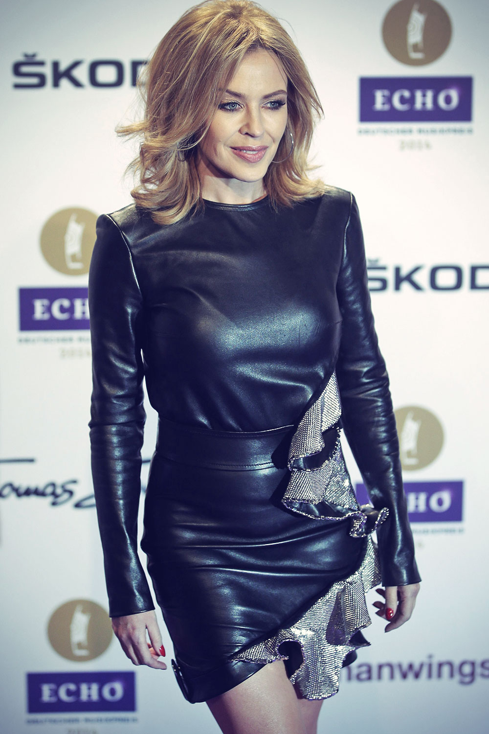 Kylie Minogue attends Echo 2014 music awards