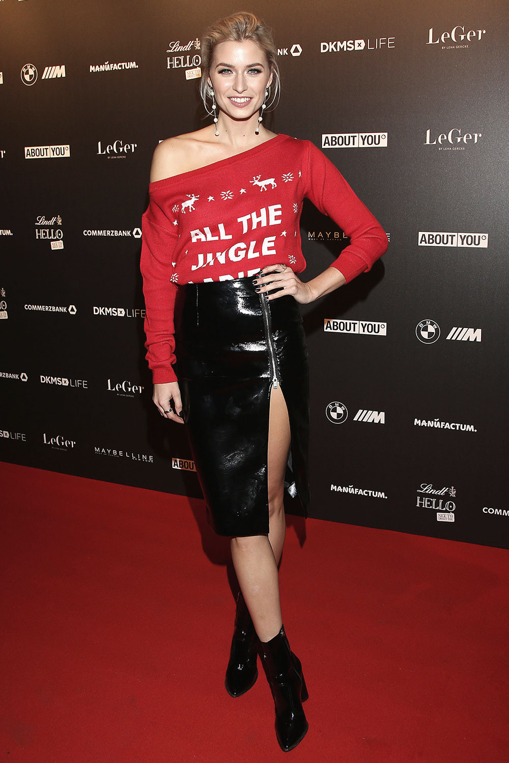 Lena Gercke attends Christmas Dinner Party