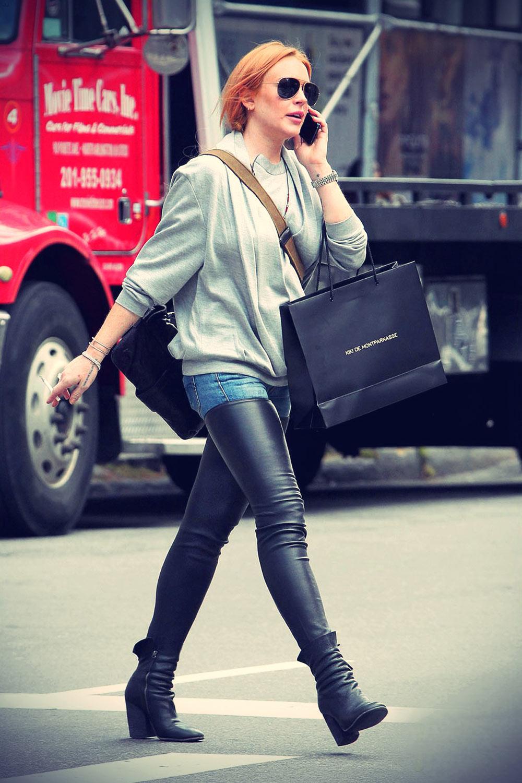 Lindsay Lohan shopping at Kiki De Montparnasse