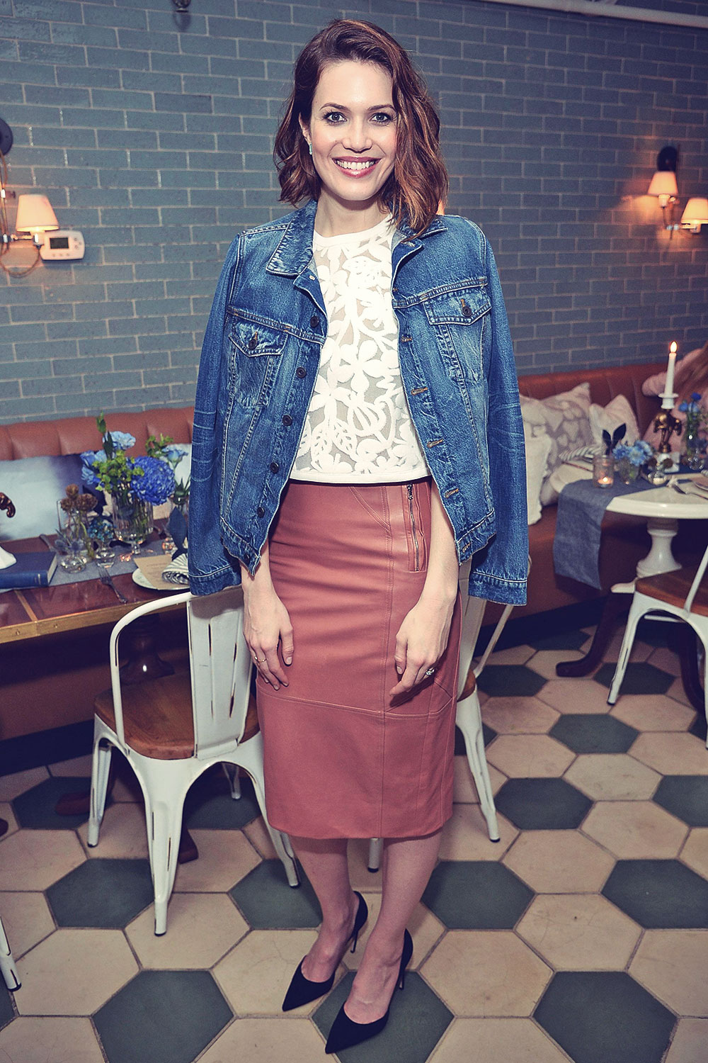 Mandy Moore attends Anthropologie Celebrates A Denim Story