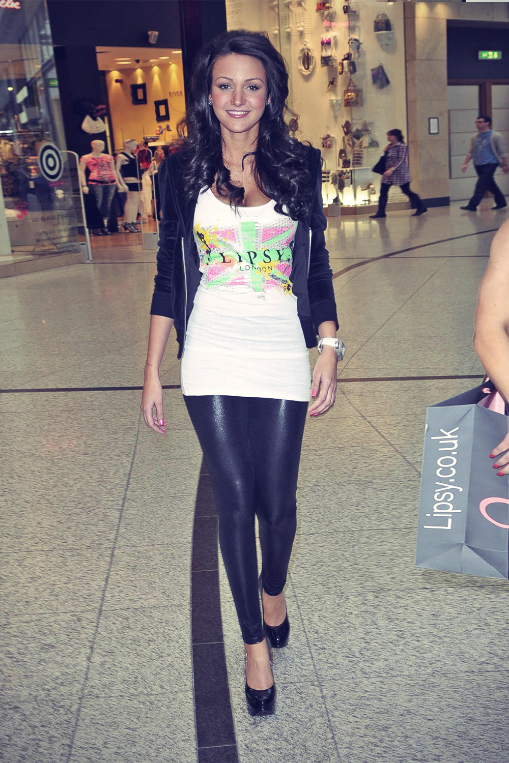 Michelle Keegan attends Lipsy store opening at the Arndale Centre
