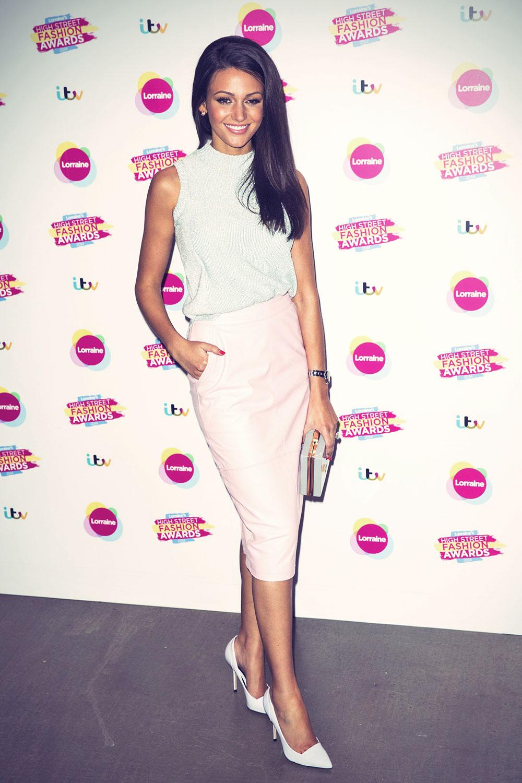 Michelle Keegan attends Lorraine High Street Fashion Awards