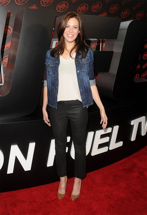 Mandy Moore at UFC on Fox Championship Match