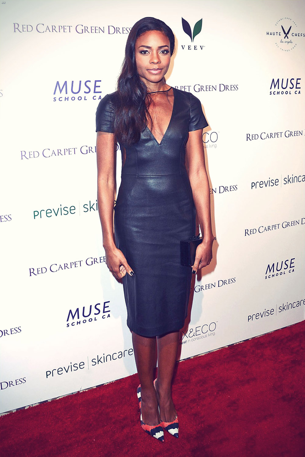 Naomie Harris attends the Eco Fashion Campaign Red Carpet Green Dress Cocktail Party