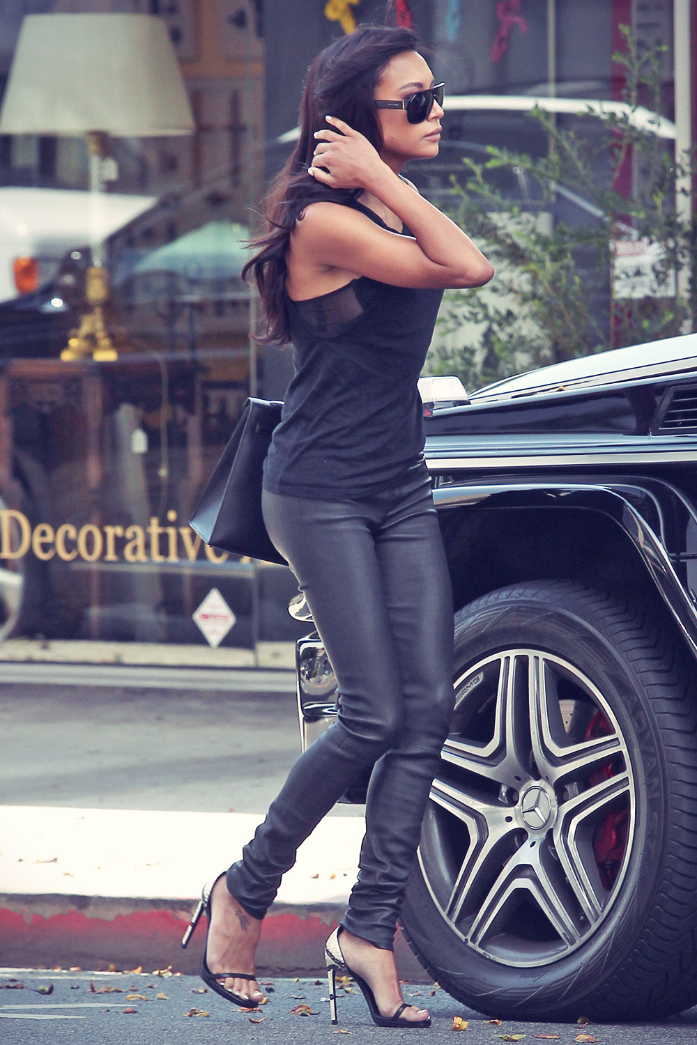 Naya Rivera running errands in West Hollywood