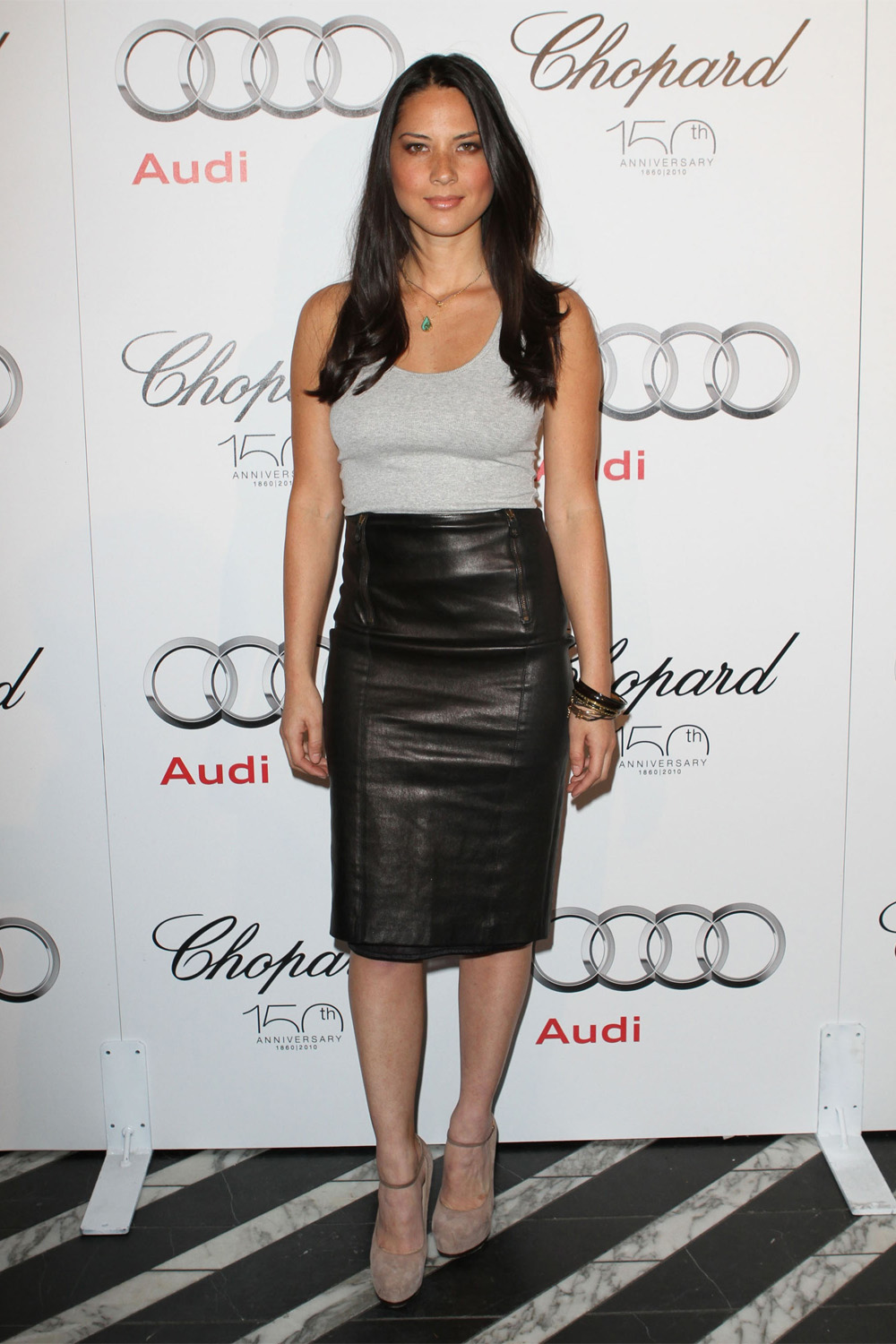 Olivia Munn arrives at the Audi/Chopard EMMY