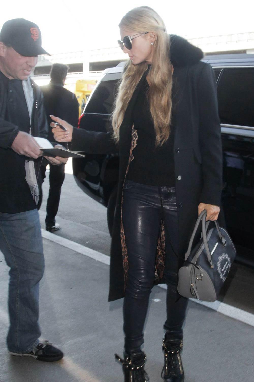 Paris Hilton arrives at LAX airport