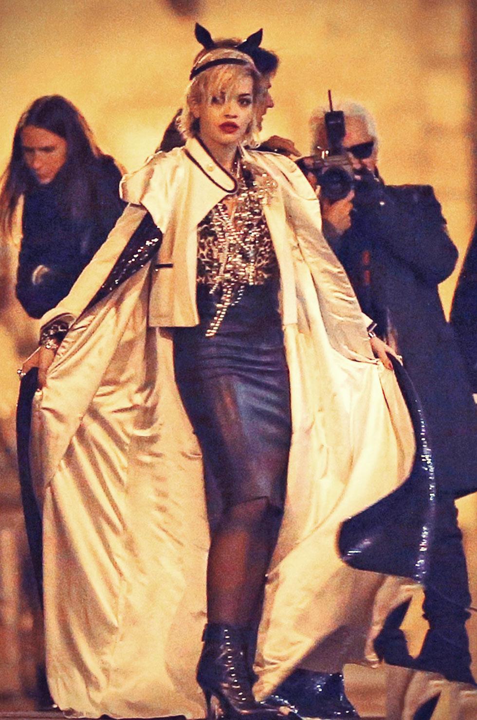 Rita Ora is super fashion forward for a photo shoot