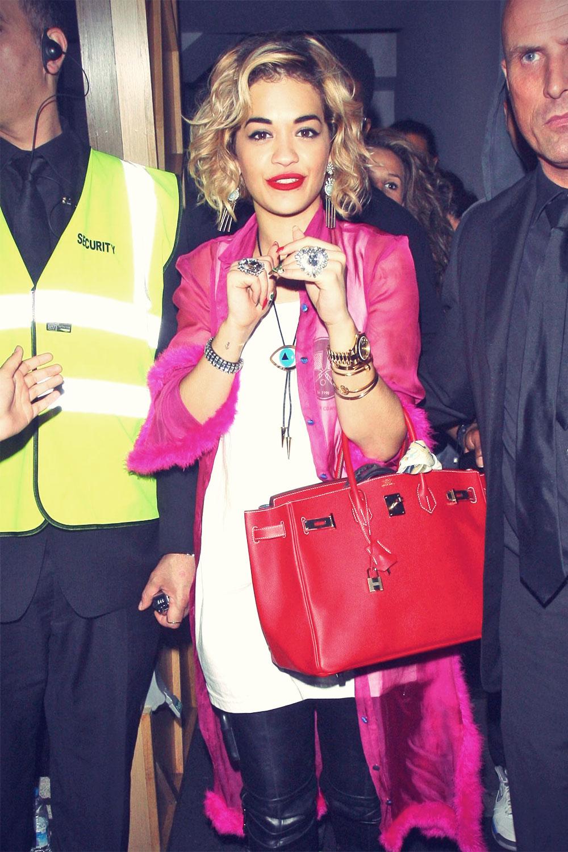 Rita Ora leaves DSTRKT