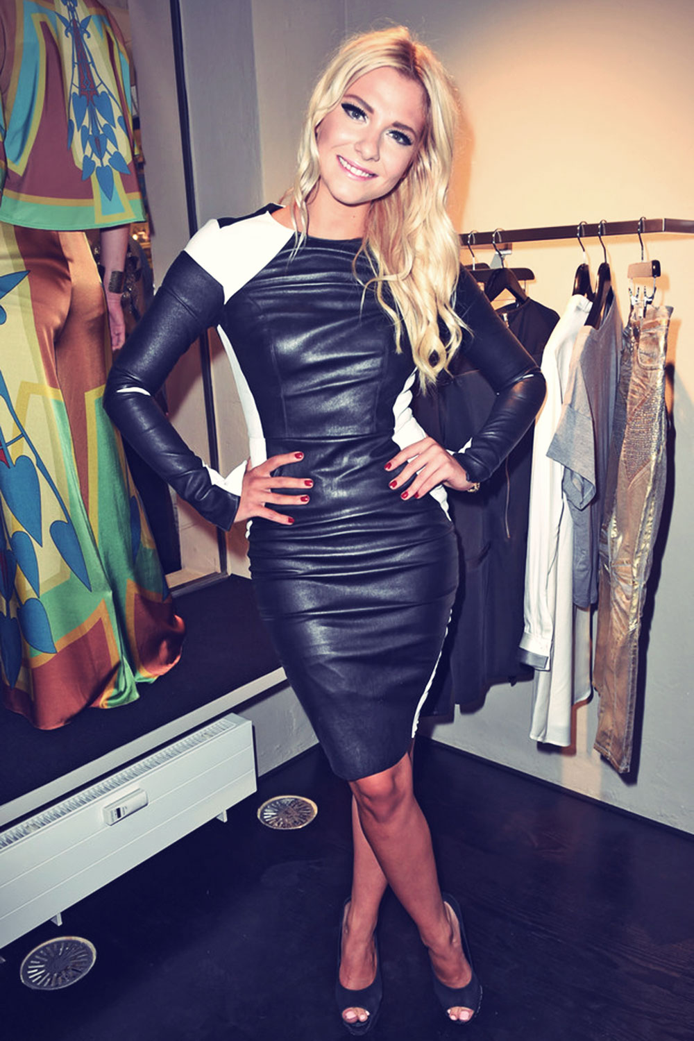 Valentina Pahde attends the Marcus Heinzelmann Boutique Opening